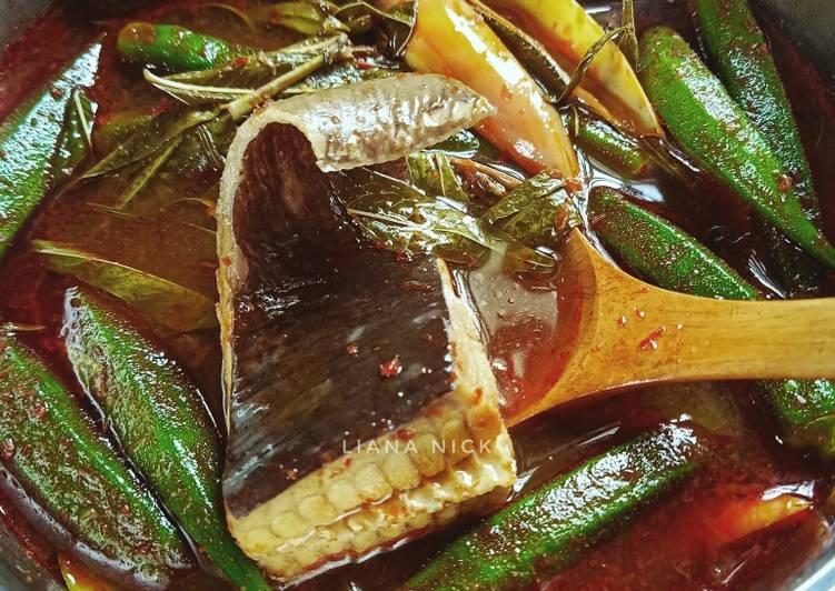 Asam pedas ikan pari tanpa belacan - resepipouler.com