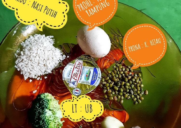 MPASI 4☆ Ryuzaki 6+mo bubur telor yampung, brokoli 🥚🐔