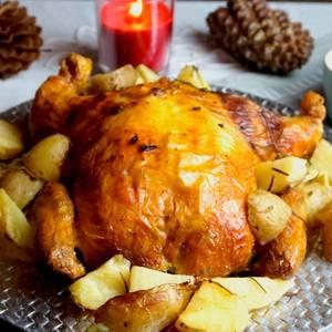 Pollo relleno para navidad-El pollo relleno de mi madre-
