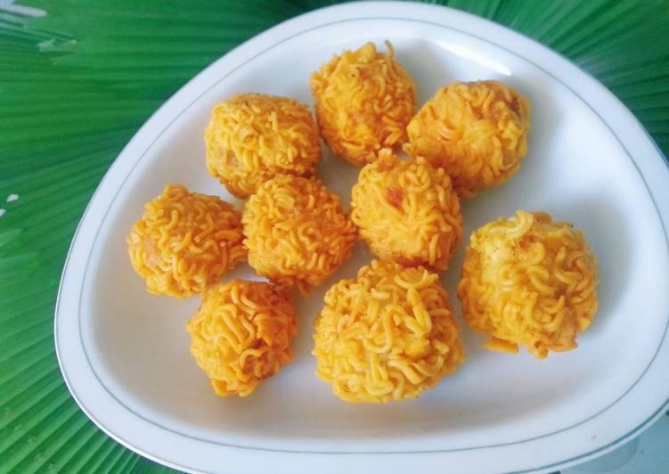 Bola-bola tahu crispy mie (simple resep)