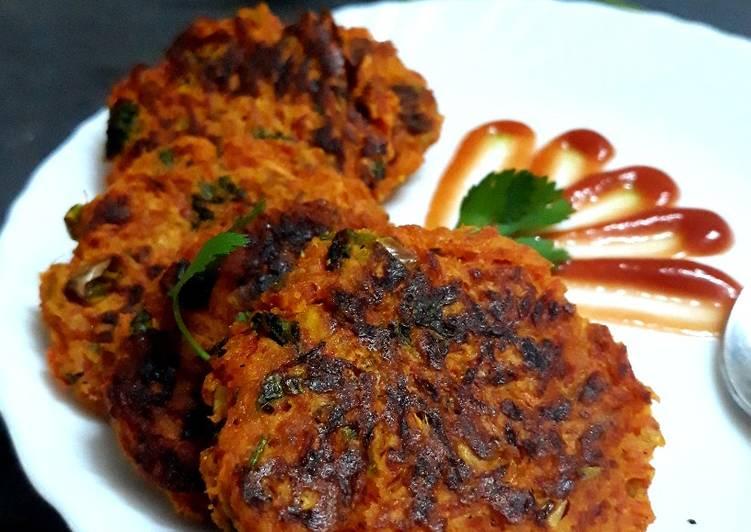 Steps to Prepare Speedy Carrot pancakes