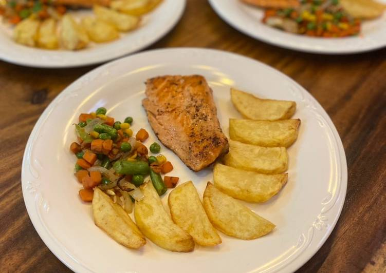 Black Pepper Salmon Steak