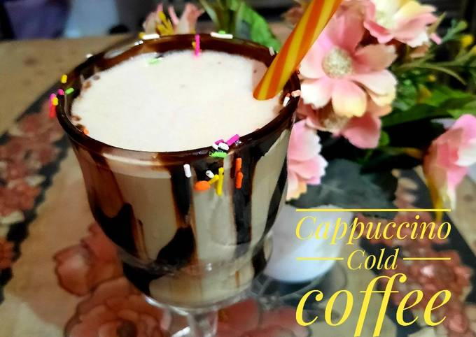 Cappuccino cold coffee