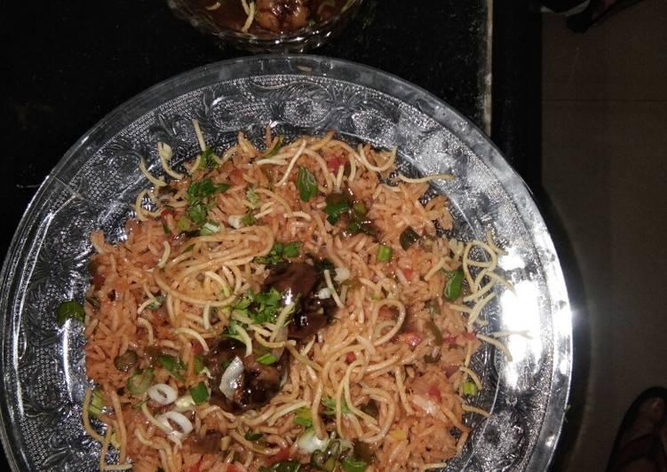 Veg Tripe Schezwan rice