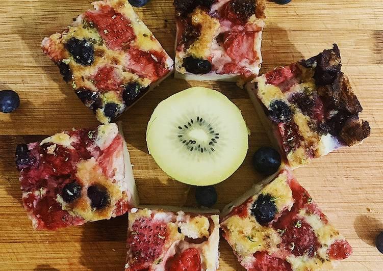 recette Clafoutis fraise 🍓 et myrtille délicieux