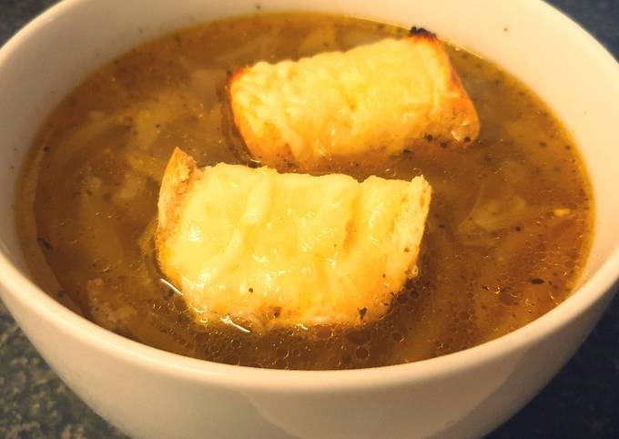 French Onion Soup with French Brie Croutons