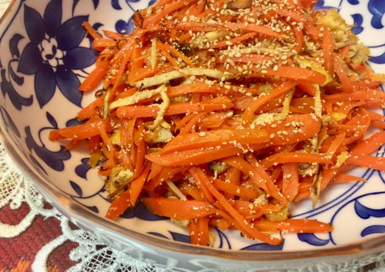 Easiest Way to Make Homemade Japanese Carrot Fry with Salty Fishegg