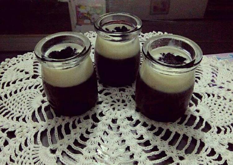 Silky chocolate pudding (source : catatan Nina)