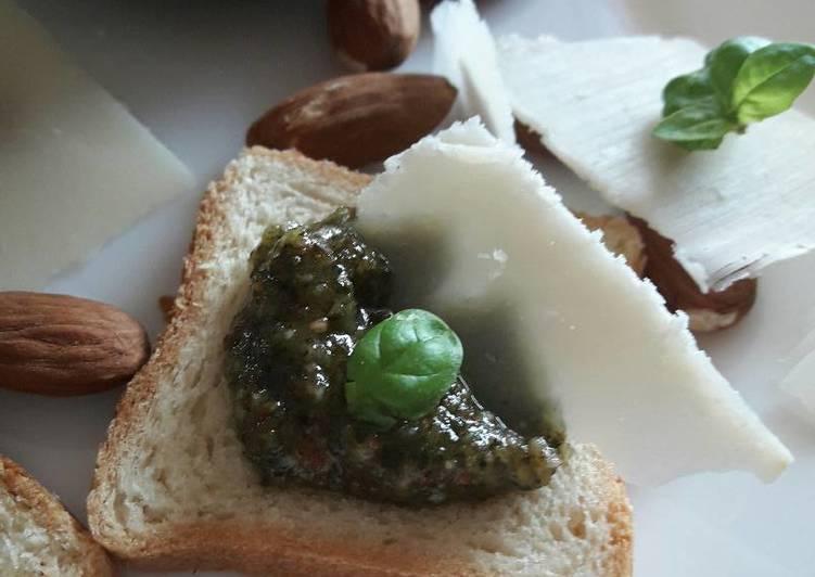 Pesto basilic amande