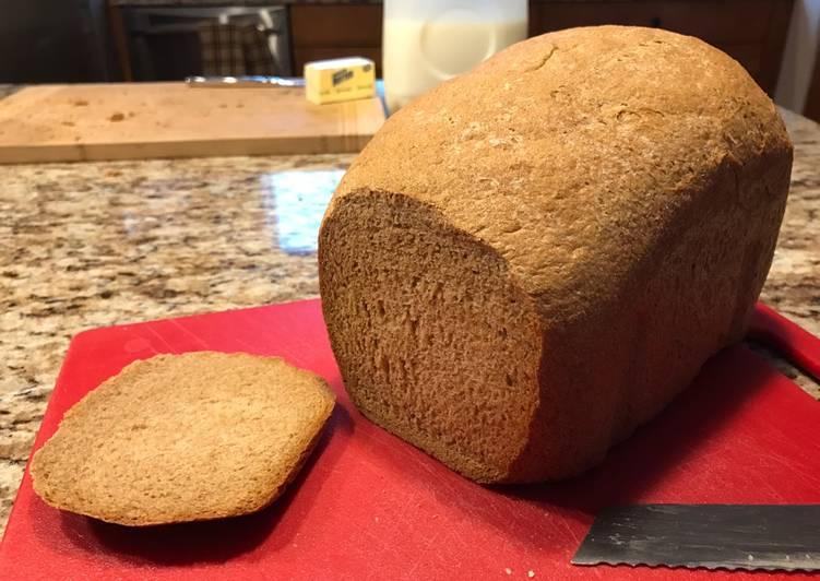 Fat Free 100% Whole Wheat Bread (Bread Machine)