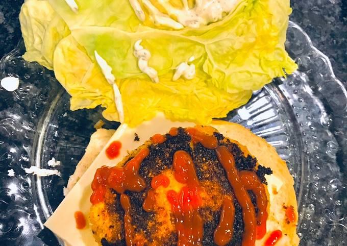 Burger de saumon et choux fleurs
