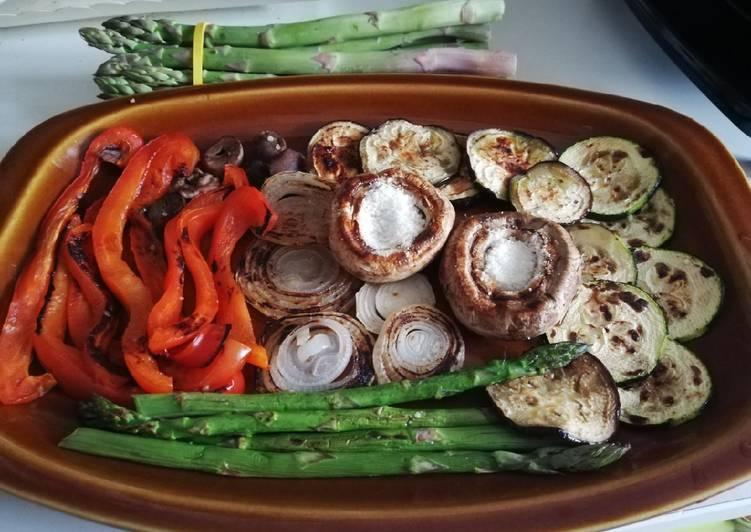Parrillada de verduras 🍆🥒🍄