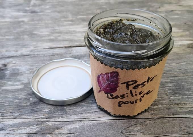 Pesto de basilic (pourpre) recette facile