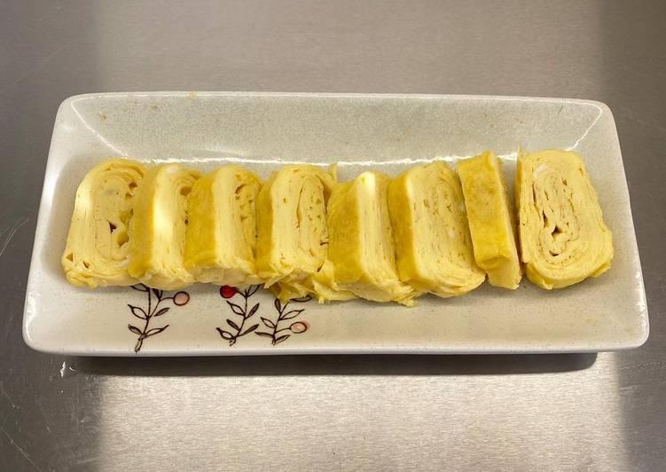 Recipe of Quick Tamagoyaki (Japanese rolled omelette)玉子焼き