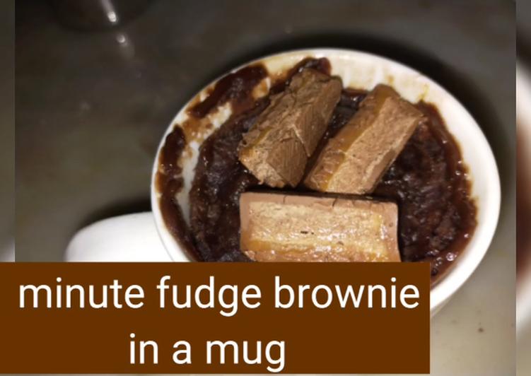 1 minute fudge brownie eggless in a mug