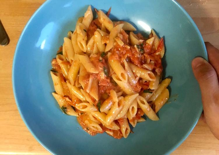 Steps to Prepare Any-night-of-the-week Cherry Tomato Pasta