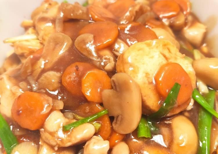 Resep Santapan Sapo Tahu Ayam Jamur Yang Gampang Banget Dibuat