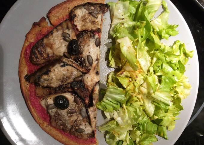 Pizza crêpes tomates aubergines