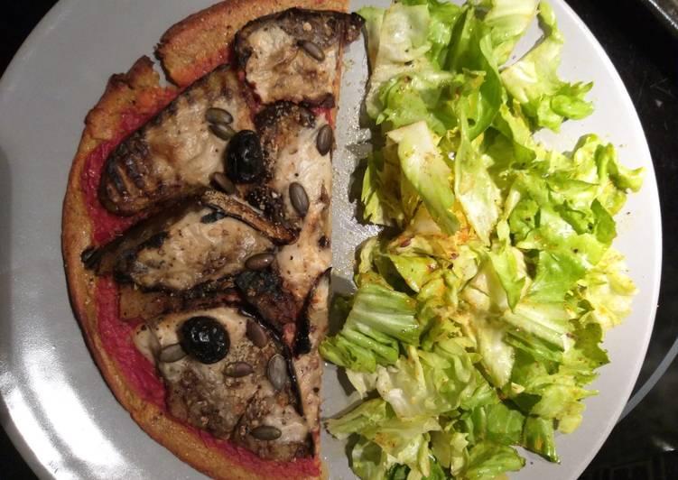Facile Pas Cher  Pizza crêpes tomates aubergines