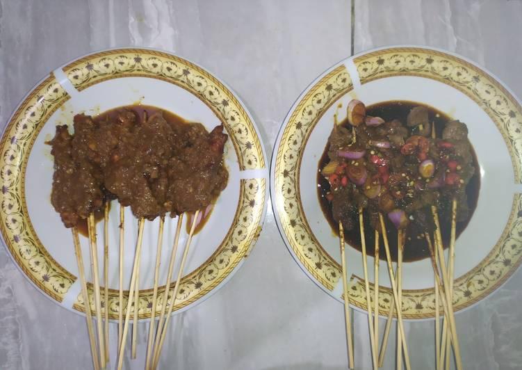 Sate ayam dan sate sapi - cookandrecipe.com