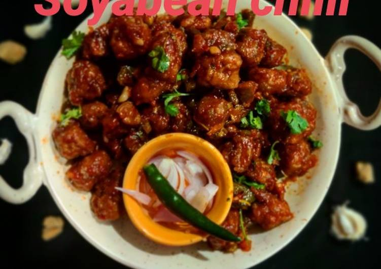 How to Prepare Perfect Soyabean chilli
