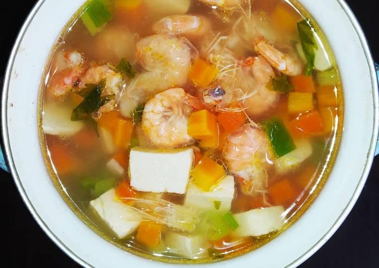 Sup Udang Tahu