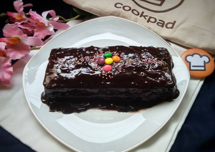 Steamed Chocolate Moist Cake No Mixer ala Yunita