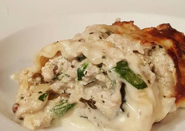 Recipe of Homemade Creamy Lasagna Rolls