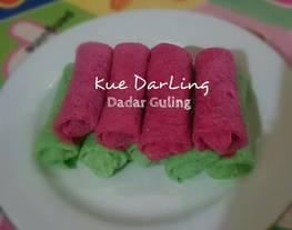 Kue DarLing (dadar guling/dadar gulung)
