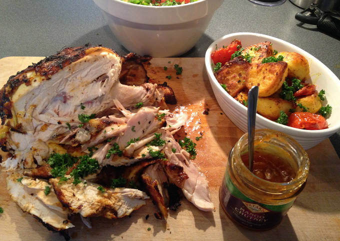 Jamie Oliver's Empire Chicken with Bombay-style Roast Potatoes