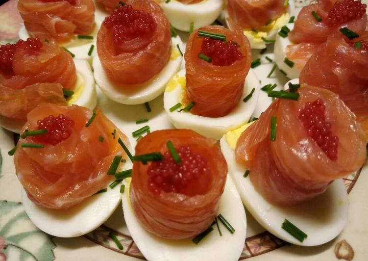 Simple Way to Prepare Most Popular Uova, rosette di salmone e caviale