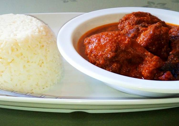 Recipe of Most Popular White rice/ guinea fowl stew😋😋