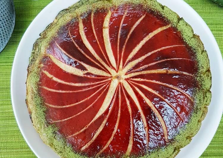 recette Galette au thé matcha et confiture de cerises Le plus simple