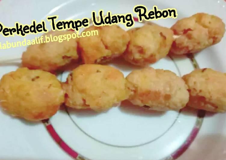 Perkedel Tempe Udang Rebon (menu batita 1y+)