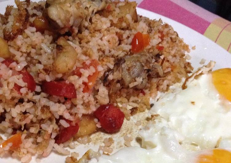 Recipe of Ultimate Tasty Breakfast Fried Rice using Leftovers -leftover ideas
