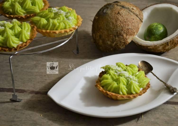 La Meilleur Recette De Tartelette crème de coco citron vert pour la St Patrick