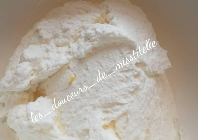 Crème mascarpone au citron