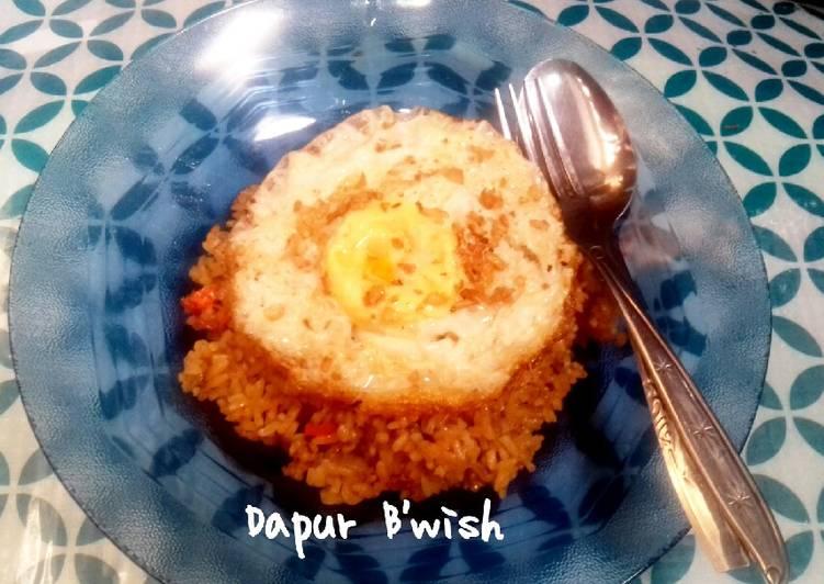 Telur Ceplok Bawang Putih (metode penggorengan ala dapur B'wish)