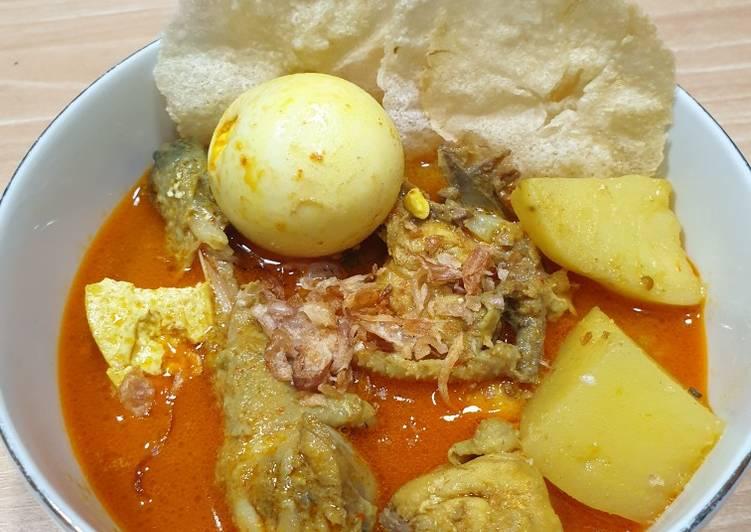 Kari Ayam dengan Tahu, Kentang, dan Buncis