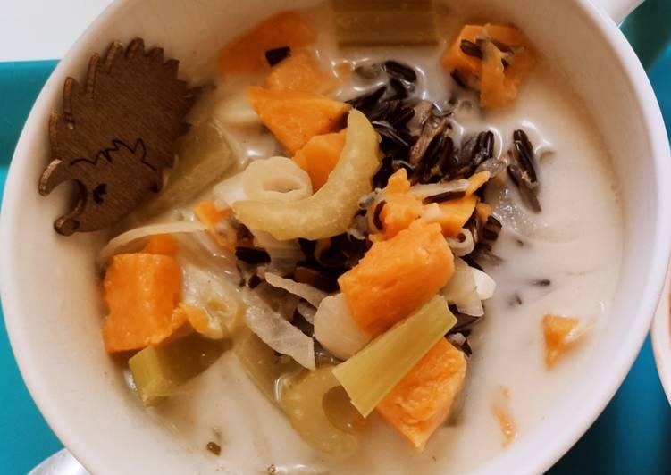Le moyen le plus simple de Faire Délicieux Soupe automnale de riz sauvage