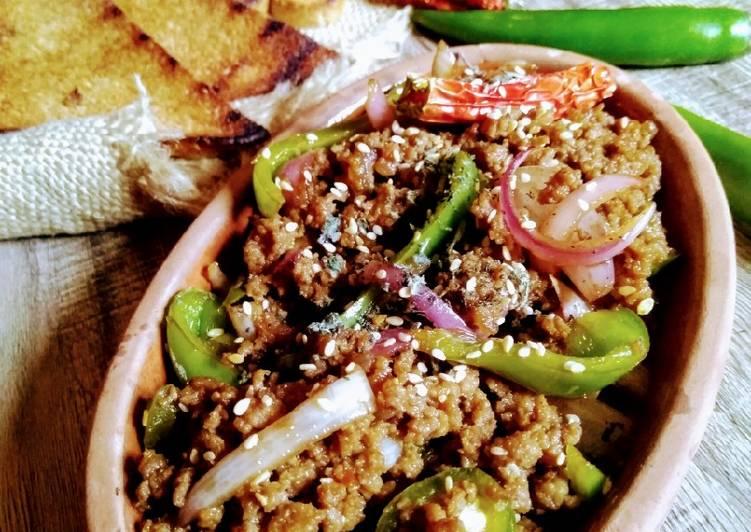 Twisted recipe beef dry chilli qeema