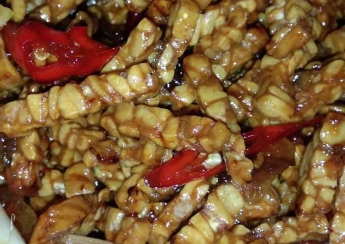 sambal goreng tempe / kering tempe - resepenakbgt.com