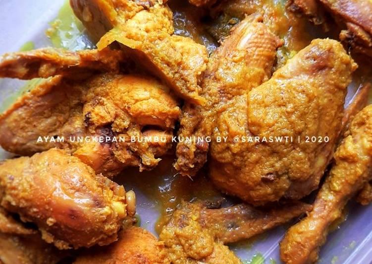 Ayam ungkepan empuk bumbu kuning