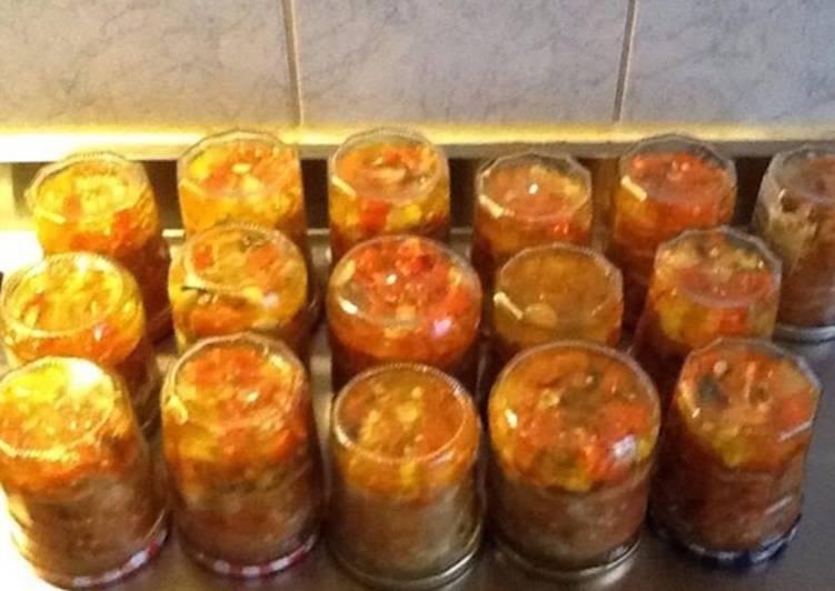 Sauce aux piments antillais et gingembre (extra forte)
