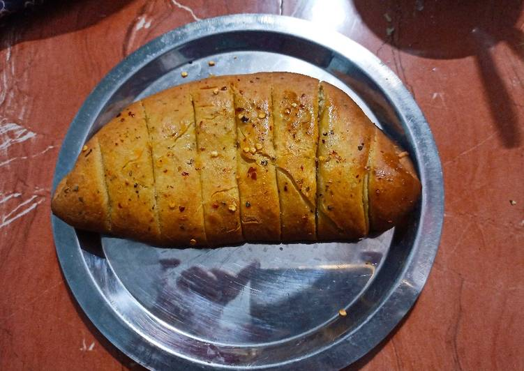 Recipe of Any-night-of-the-week Garlic bread (without yeast)