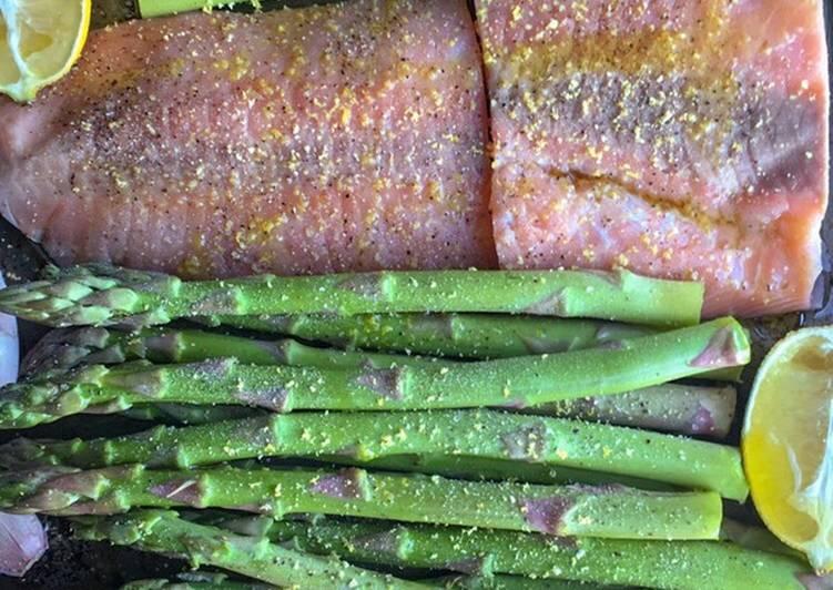 How to Cook Delicious Lemon Zest Salmon & Asparagus