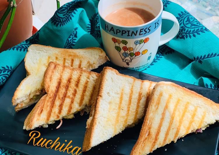 Recipe: Delicious Coleslaw Sandwich
