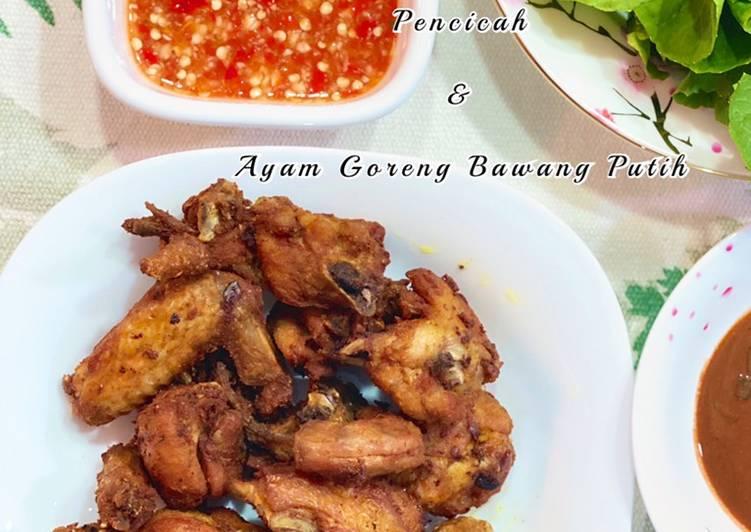 Ayam Goreng Bawang Putih & Pencicah Ayam - velavinkabakery.com