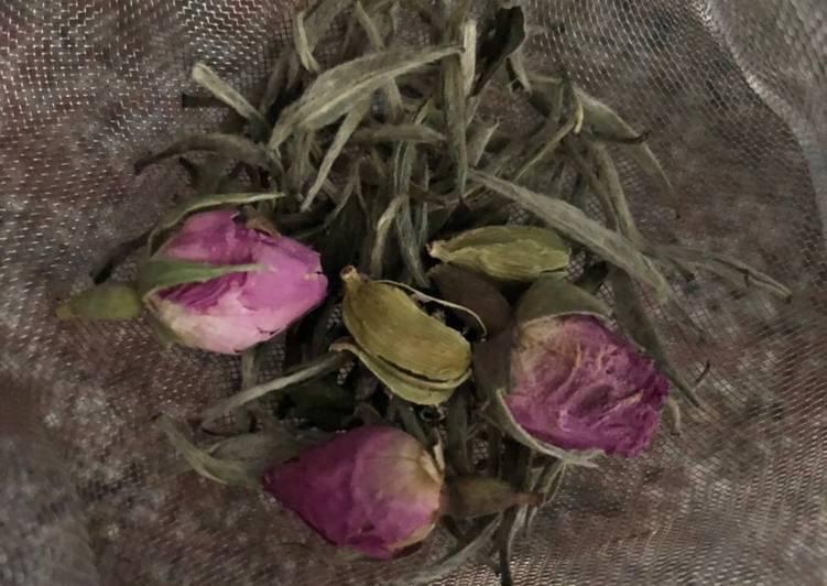 Rose and cardamom tea