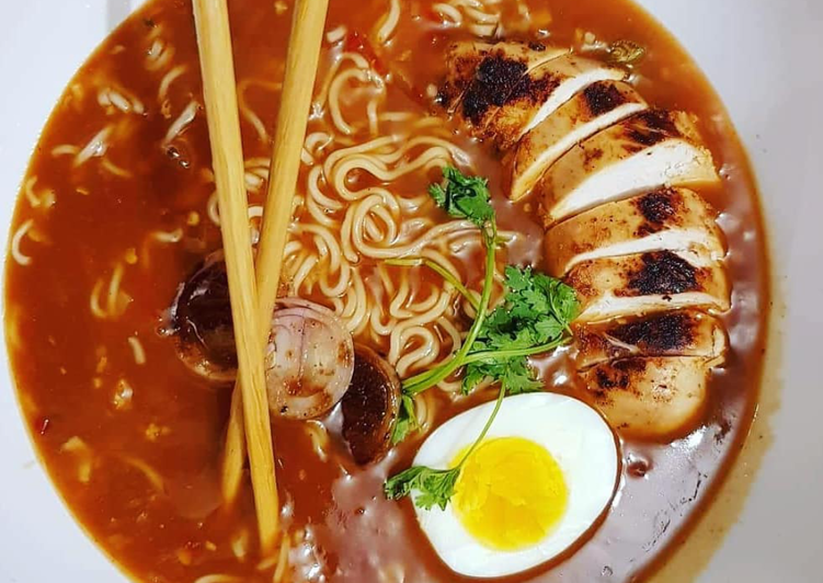 Steps to Make Any-night-of-the-week Easy Chicken Ramen 🍜